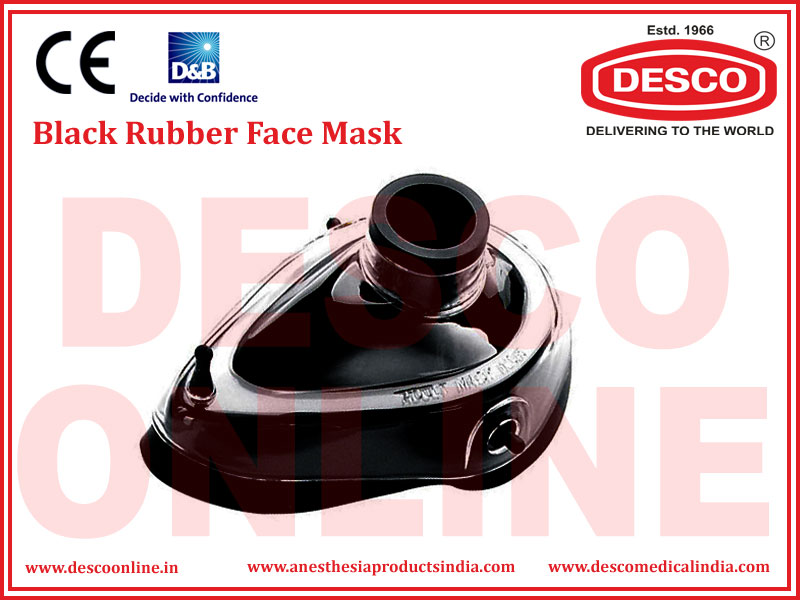 BLACK RUBBER FACE MASK