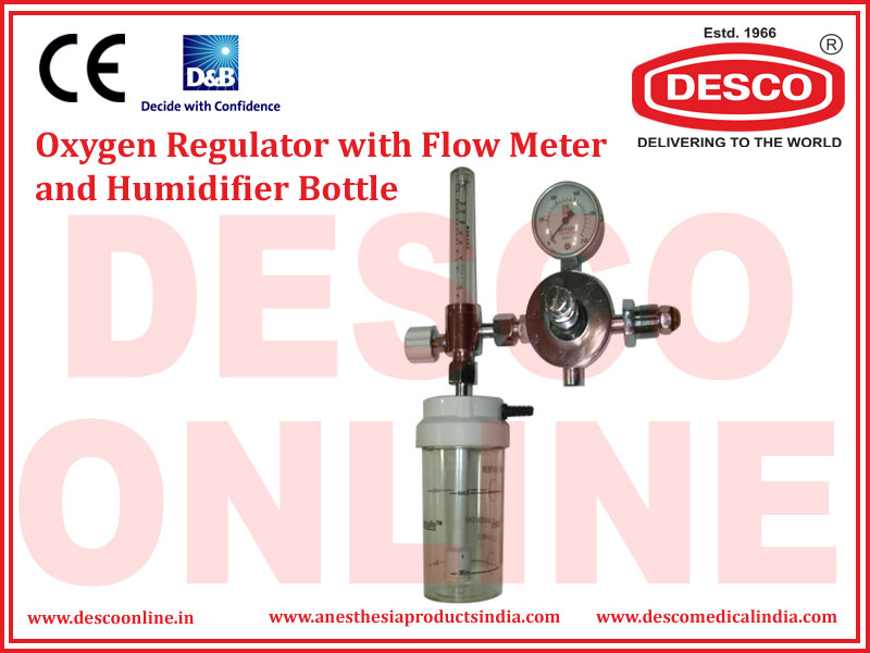 OXYGEN REGULATOR WITH FLOW METER AND HUMIDIFIER BOTTLE