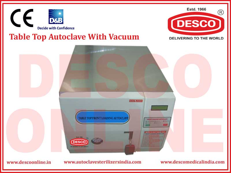 TABLE TOP AUTOCLAVE WITH VACUUM