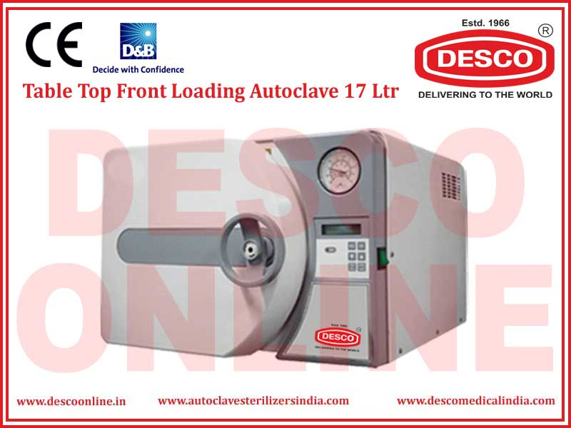 TABLE TOP FRONT LOADING AUTOCLAVE 17 LTR