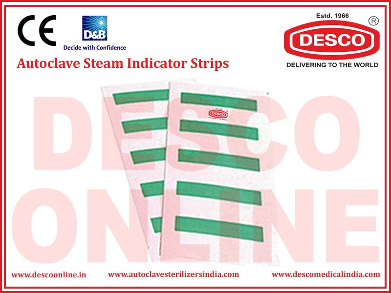AUTOCLAVE STEAM INDICATOR STRIPS