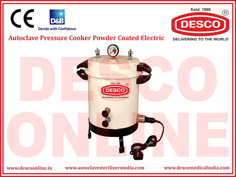 AUTOCLAVE PRESSURE COOKER POWDER COATED ELECTRIC