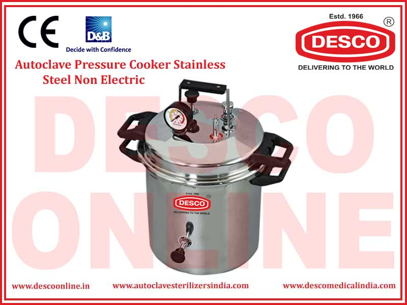 AUTOCLAVE PRESSURE COOKER STAINLESS STEEL NON ELECTRIC