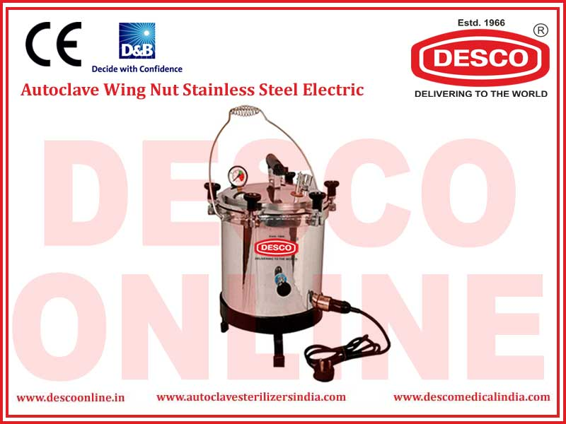 AUTOCLAVE WING NUT STAINLESS STEEL ELECTRIC