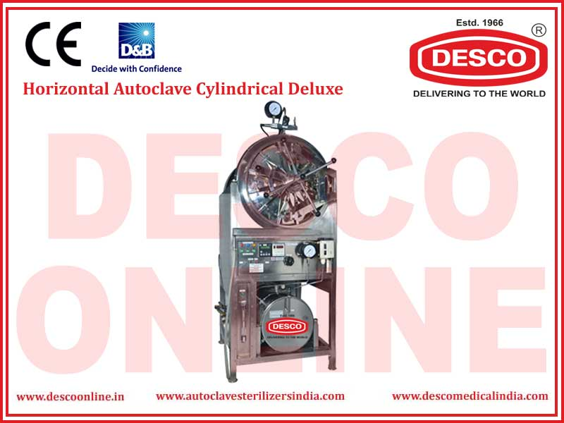 HORIZONTAL AUTOCLAVE CYLINDRICAL DELUXE