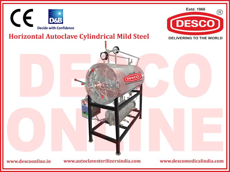 HORIZONTAL AUTOCLAVE CYLINDRICAL MILD STEEL