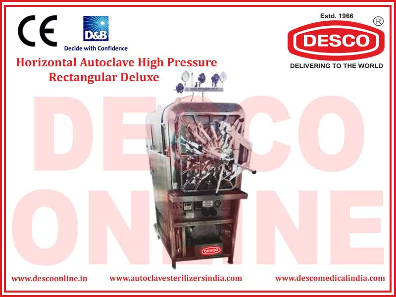 HORIZONTAL AUTOCLAVE HIGH PRESSURE RECTANGULAR DELUXE