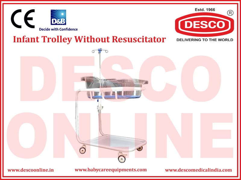 INFANT TROLLEY WITHOUT RESUSCITATOR