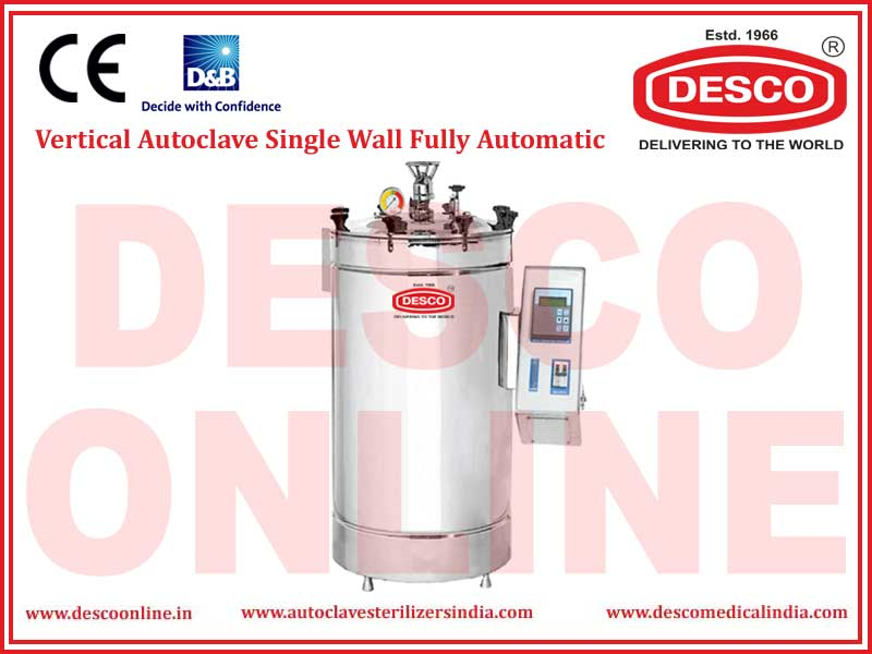 VERTICAL AUTOCLAVE SINGLE WALL FULLY AUTOMATIC