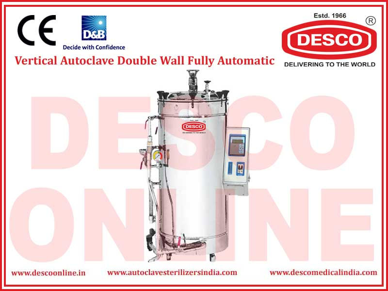 VERTICAL AUTOCLAVE DOUBLE WALL FULLY AUTOMATIC