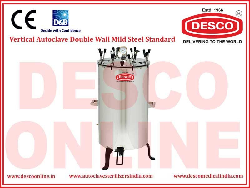 VERTICAL AUTOCLAVE DOUBLE WALL MILD STEEL