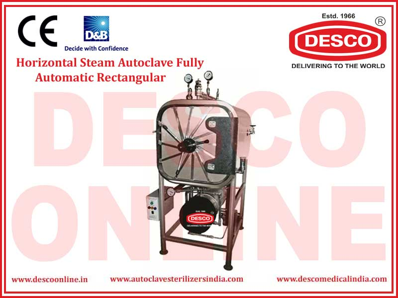 HORIZONTAL STEAM AUTOCLAVE FULLY AUTOMATIC RECTANGULAR