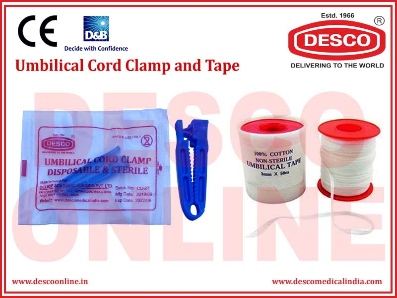 UMBILICAL CORD CLAMP AND TAPE