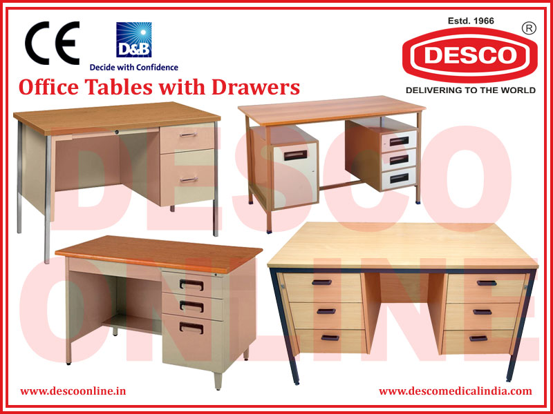 OFFICE TABLES WITH DRAWERS